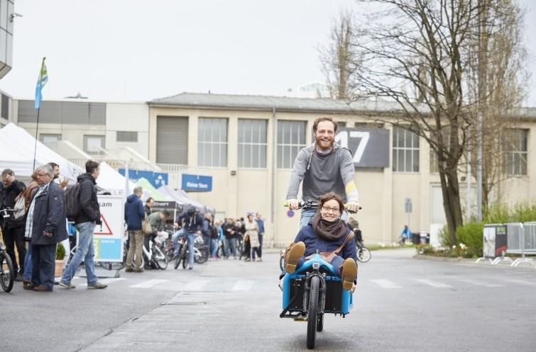 Transportrad auf der Veloberlin