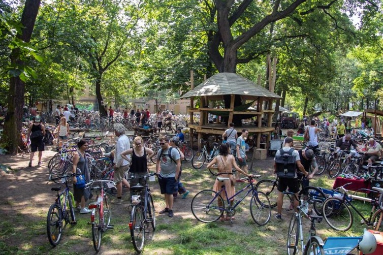 Räder beim Berliner Fahrradmarkt