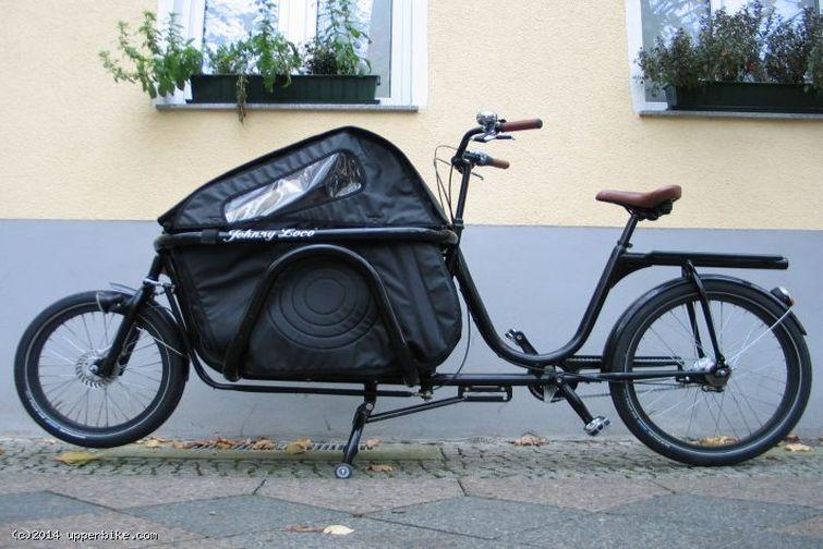 Johnny Loco Lastenrad mit zwei Kindersitzen